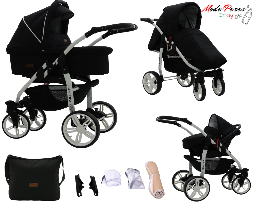 Details About Baby Prams Legro Lux Newborn Car Seat 3 In 1 Buggy Pushchair Stroller Carrycot